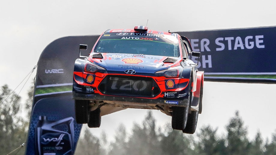 Hyundai leading the WRC championship in Finland