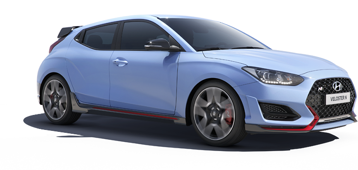 Veloster N white car